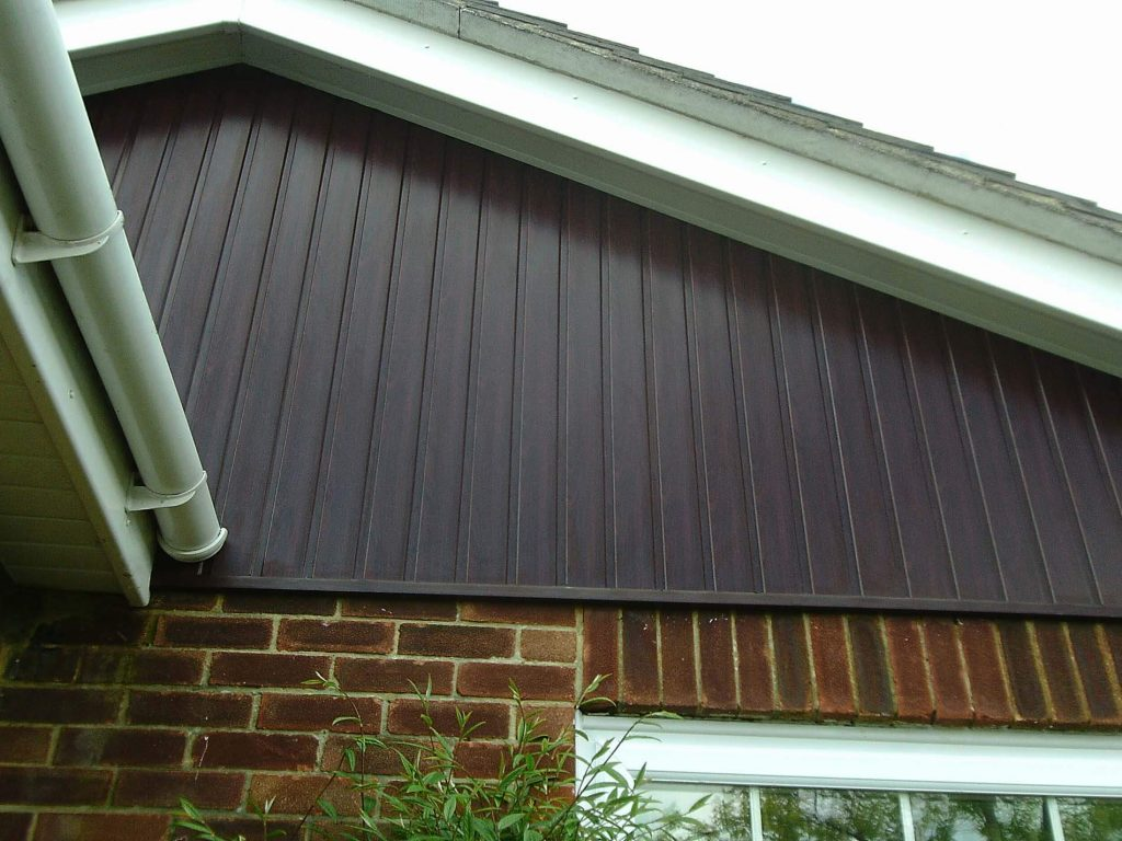 Rosewood Open Vee Cladding completed installation in Old Basing